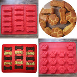 2pcs Dog Paws & Bones Silicone Baking Molds For Biscuit