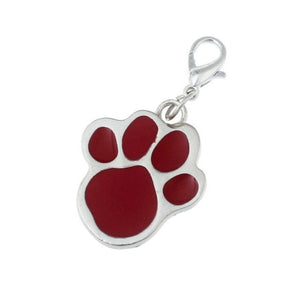 Footprints Puppy Rhinestone Pendant
