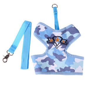 Camouflage Dog Leash Harness