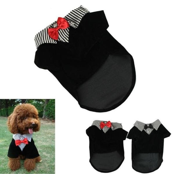 Western Style Men's Suit Bow Tie Puppy Costume