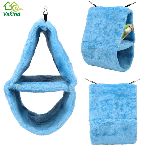Soft Fleece Bird Nest Hammock House for Parrots - Pets Emporium