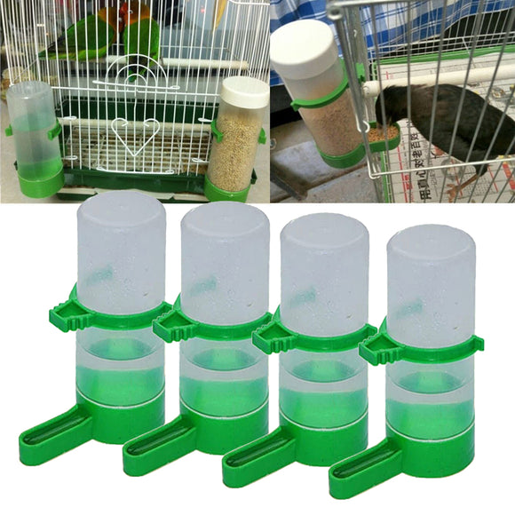 4pcs Aviary Water & Feeding Bottle