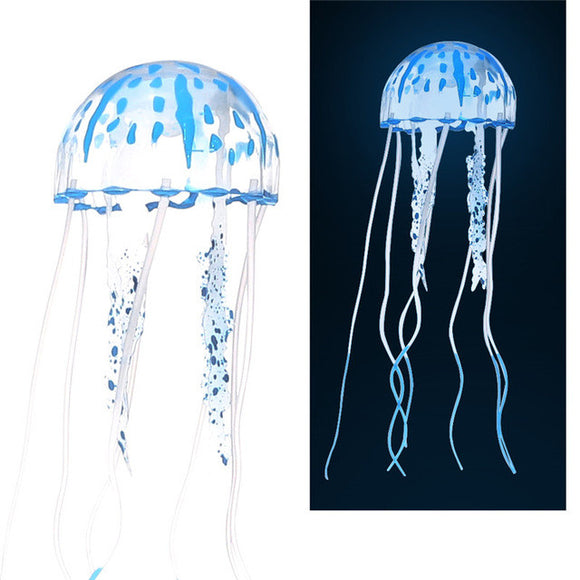 Reef Ornament Simulation Glow Fluorescent Jellyfish - Pets Emporium