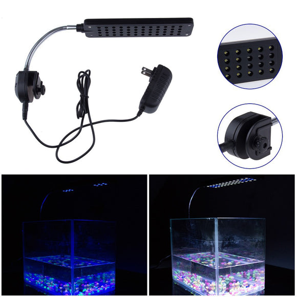 48 LED Aquarium Light Fish Tank Lamp With Flexible Clip - Pets Emporium