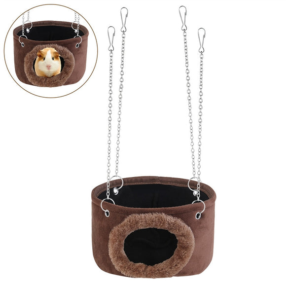 Small Animals Hammock, Hanging Snuggle Cave for Rodent With 4 Chains