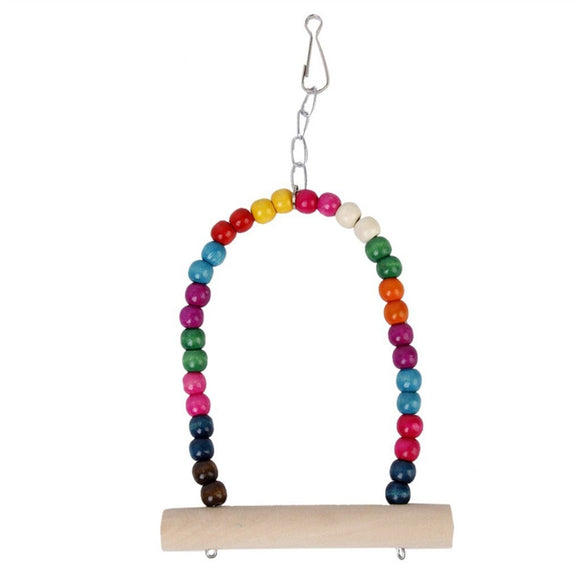 Wooden Toy Swing with Hooks for Bird /Parrot /Squirrel - Pets Emporium