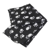 Paw Print Fleece Throw Blanket For Pets