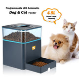 Programmable 4.5L LCD Automatic Feeder With Remote Control For Cat And Dogs