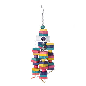 Colorful Healthy Natural Wood Chewing Toy for Birds - Pets Emporium