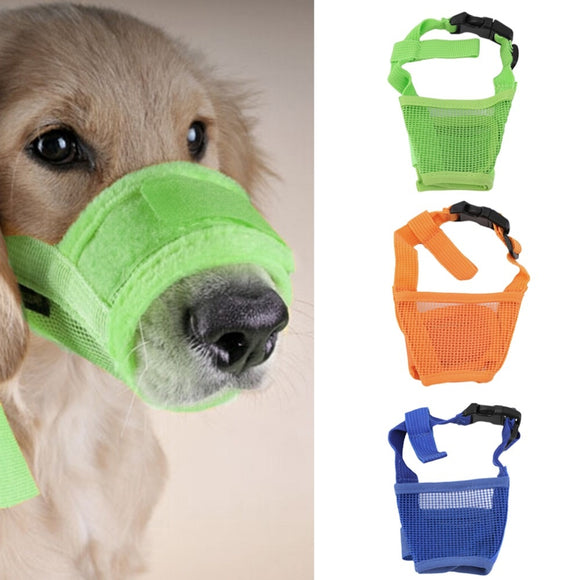 Dog Anti Bark Bite Adjustable Breathable Muzzle