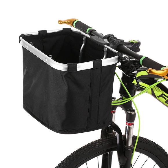 Folding Bicycle Front Handlebar Pet Carrier