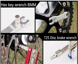 19 Functions Portable Bike Multi Repair Tools Set Cycling - Tauren Shop