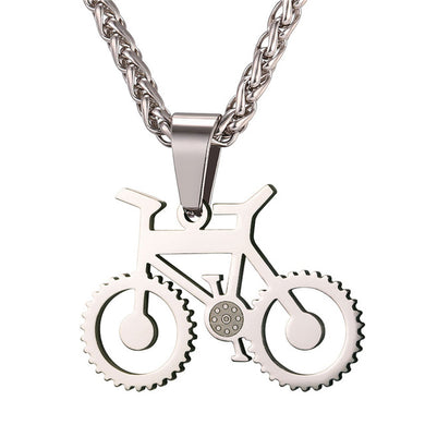 Bicycle Necklace Black Color Stainless Steel Bike Pendants & Chain - Tauren Shop
