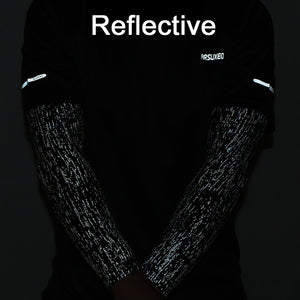 Reflective Men Cycling Arm Warmers Bicycle Long Sleeves - Tauren Shop