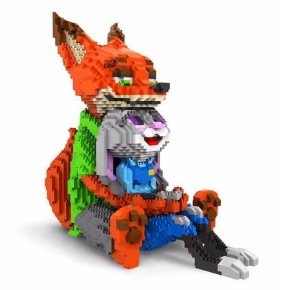 Lovely Cartoon Mini Blocks Fox Anime Blocks Building Toys Zootopia Educational Toy