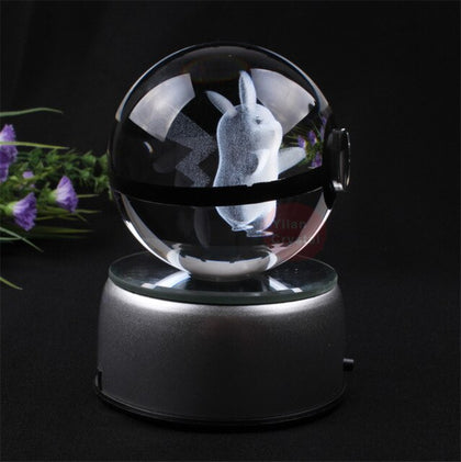 K9 Crysal Pokemon Ball Elegant  Pokemon Go Ball Small 50x50mm Size Crystal Ball With Black Line