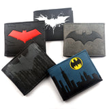 Batman Wallet Cartoon Comics Symbol Bi-Fold purse id window zip pocket credit card holder