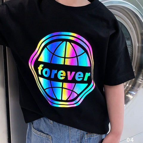 Kids  Forever Reflective print T-shirt