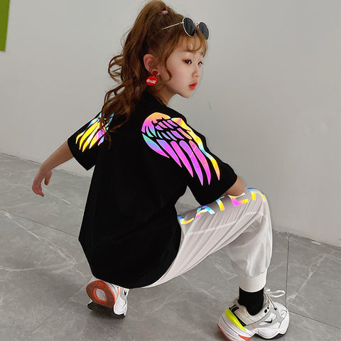 Reflective Rainbow Wings Kids T-shirt