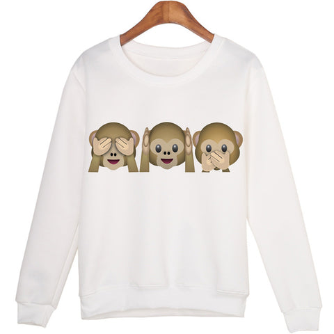 Three monkey Sweatshirt