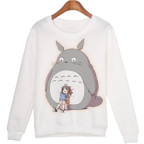 3D Sweatshirt Women Winter Clothing Totoro seat Print O-neck Pullover