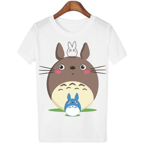Women's Totoro Print Casual T Shirt