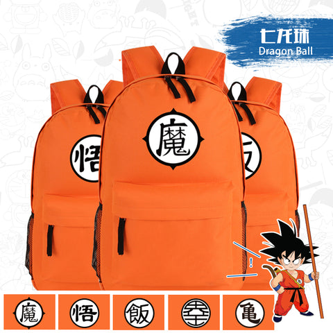 Japanese Anime Dragon Ball  Z GoKu  Master Roshi Cosplay Printing School Bags for Teenagers Canvas Fashion Backpack