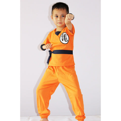 Dragonball 3-7years Boy Saiyan Role-playing cosplay,Halloween Star SON GOKU model clothing