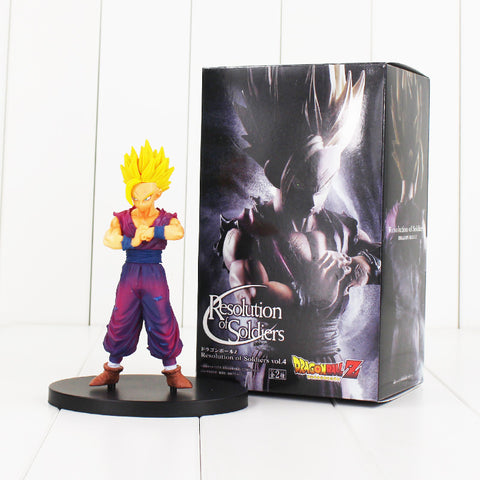 15cm Resolution of Soldiers Son Gohan Figure Toy Dragon Ball Z Gohan Super Saiyan Anime DBZ Model Doll for Children