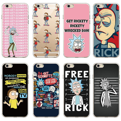 Rick And Morty Soft Clear Phone Case