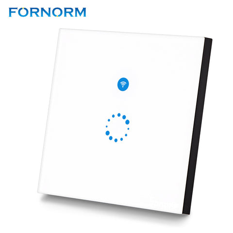 Fornorm Sonoff Touch Wi-Fi Switch 1 Gang 1 Way Wireless Intelligence Wall Switches Support Timing Remote Control Via APP Work