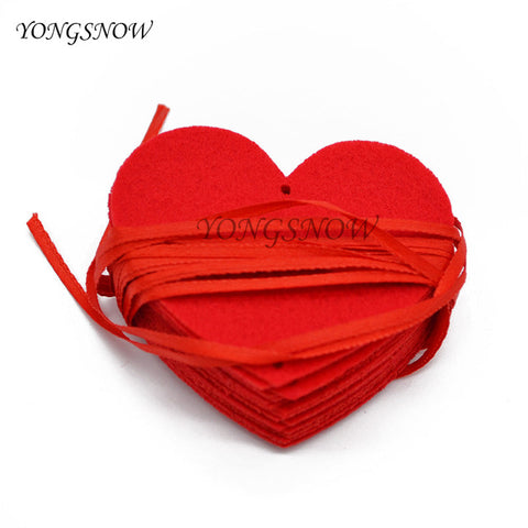 16 Hearts Love Heart Curtain Romantic Valentine Hearts Ornaments Non-woven Garland