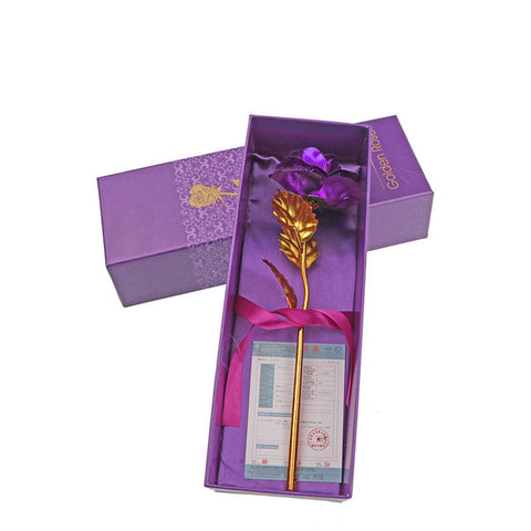 24k Plated Rose Flower with Gift Box
