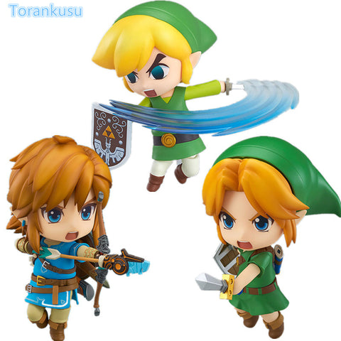 The Legend of Zelda Link Nendoroid Breath of the Wild Majora's Mask 100MM Collectible Model Toy Game Legend of Zelda Doll