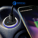 Powstro  Car Charger for iphone Xiaomi Samsung Galaxy