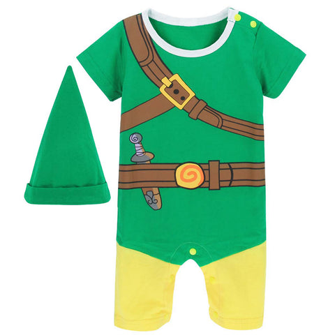 Zelda Link Costume Romper Infant Cosplay Oneise
