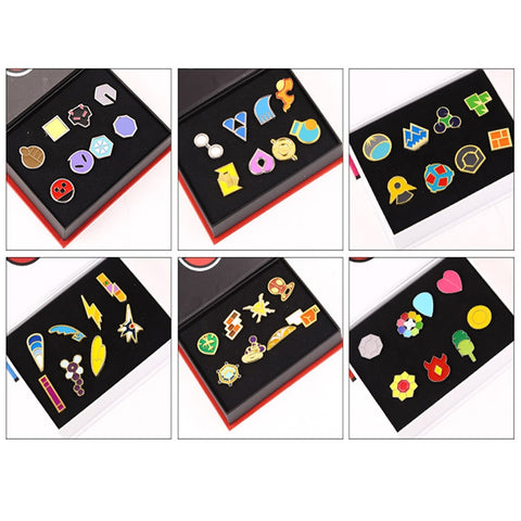 Pokemon Badge Pokemon Go Badge Brooch mini Zinc Alloy Figures model Pokemon cosplay small decoration with gift box