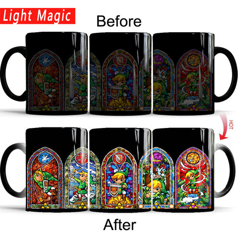Zelda Color Transforming Ceramic  Mug Novelty Heat Changing Color
