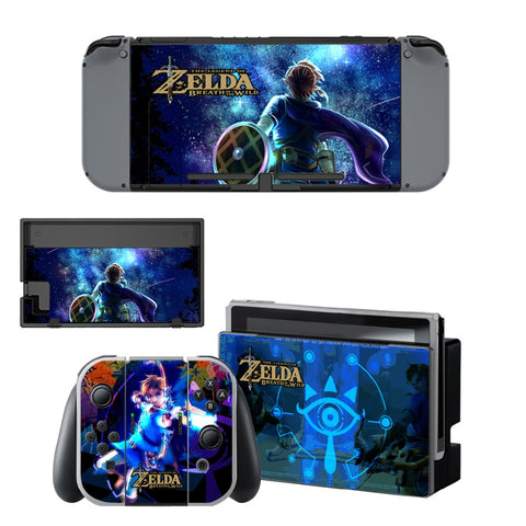 The Legend of Zelda Vinyl Skins Sticker For Nintendo Switch Console and Controller Skin Set