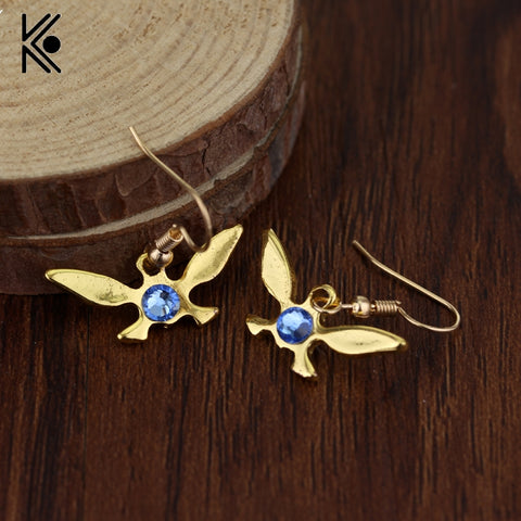 The Legend of Zelda Navi Drop Earring The Butterfly Blue Crystal