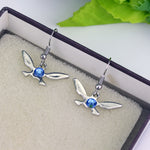 The Legend of Zelda Navi Drop Earring The Butterfly Blue Crystal Alloy Pendent Jewelry Women Earring High Quality Gift For Fans