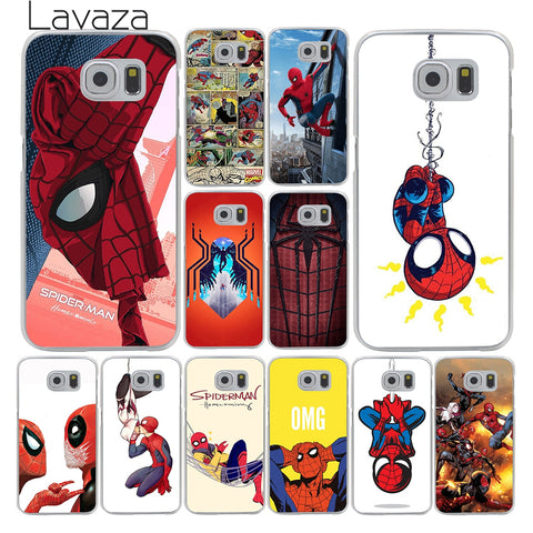 Lavaza Marvel Spider-Man Spider Man Comics Homecoming Hard Case for Samsung Galaxy S3 S4 S5 & Mini S6 S7 Edge S6 S8 Edge Plus