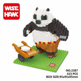 NEW Wisehawk Official Movie KungFu Panda 3 Toys Doll Panda Po Diamond Building Blocks Action Figure