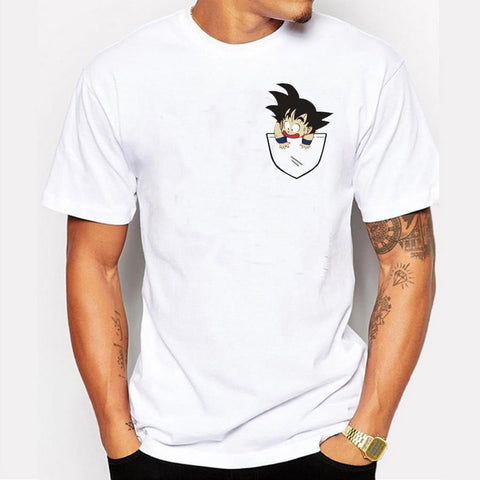 Men's Goku Pocket Design Tshirt