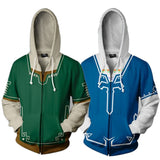 The Legend of Zelda Green/Blue Hoodies