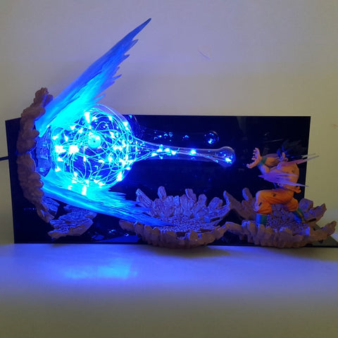 Dragon Ball Z Son Goku Kamehameha Lamp Led
