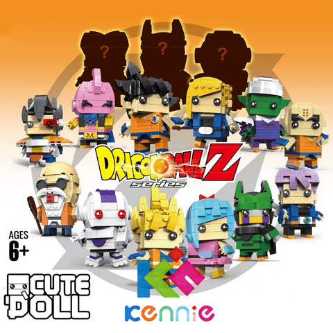 Mini Dragon Ball DIY Building Blocks Son Goku Trunks Bulma Cell Piccolo Majin Buu Krilin Action Figure Brickheadz 6834