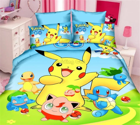 pokemon bedding set duvet cover bed sheet pillow case
