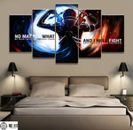 5 Panels Picture Sword Art Online Canvas Painting