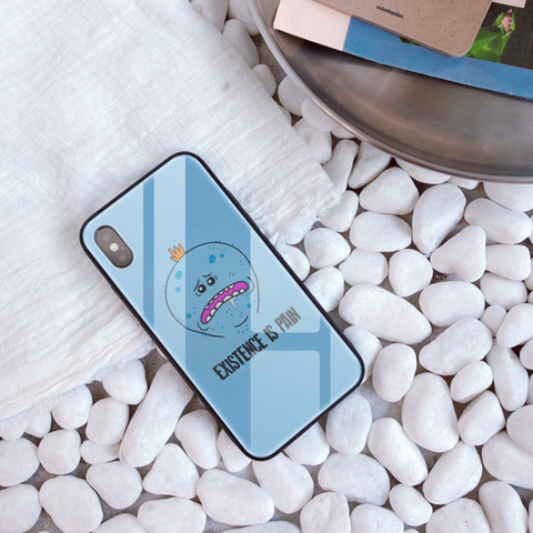 Rick and Morty Tempered Glass Phone Case iPhone